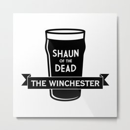 Shaun of the Dead - The Winchester Metal Print