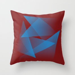 Floating blue fragments Throw Pillow