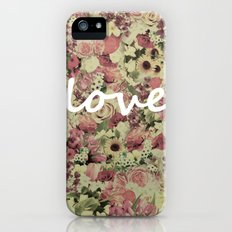 FLORAL LOVE iPhone (5, 5s) Slim Case
