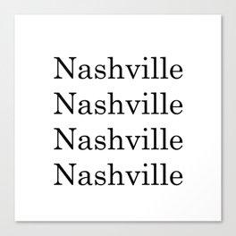 City Art- Nashville Canvas Print