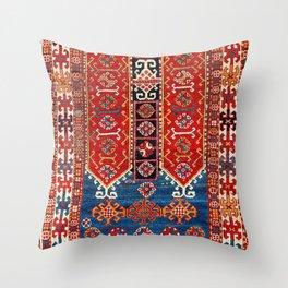 Kazak Southwest Caucasus Carpet Fragment Print Throw Pillow