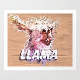 Representin Llama's Art Print