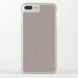 Cavern Clay SW 7701 Abstract Crescent Shape Pattern on Slate Violet Gray SW9155 Clear iPhone Case