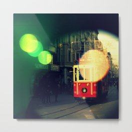 colorful tram in Istanbul Metal Print
