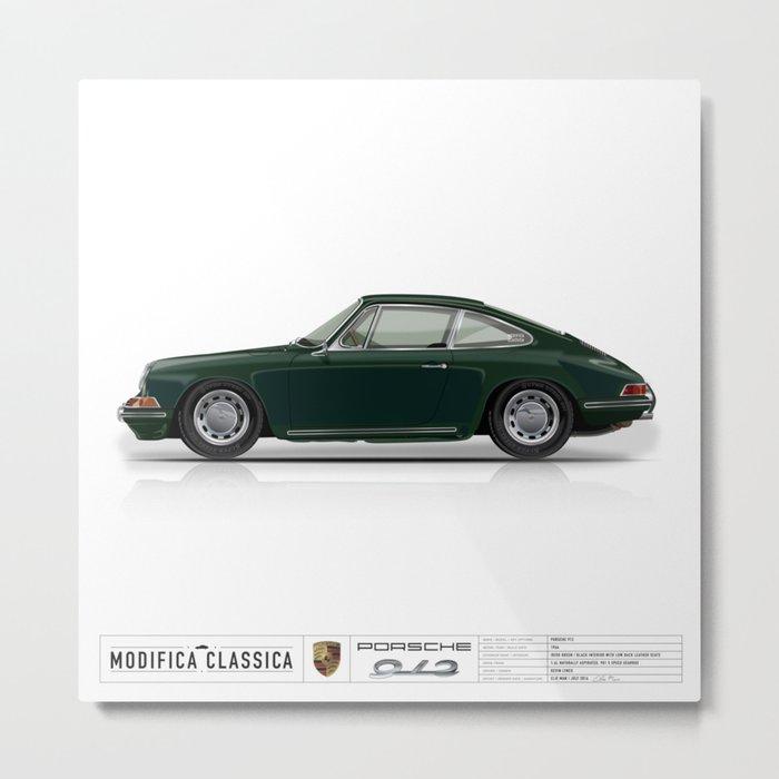 Porsche 1966 Irish Green 912 Kevin Lynch Metal Print