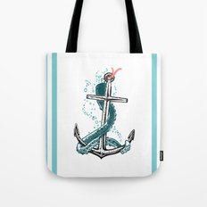 Anchor and Tentacle (Riso edition) Tote Bag