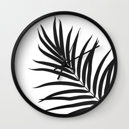 Tropical Palm Leaf #1 #botanical #decor #art #society6 Wall Clock