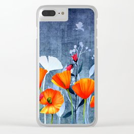Summer night- Shadow of a Poppy meadow- Flowers on #Society6 Clear iPhone Case