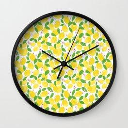 california lemons Wall Clock