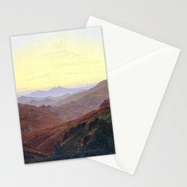 Caspar David Friedrich Before Sunrise in the Mountains Stationery Cards