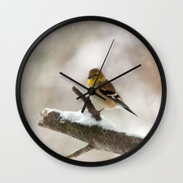 Out on a Limb (American Goldfinch) Wall Clock