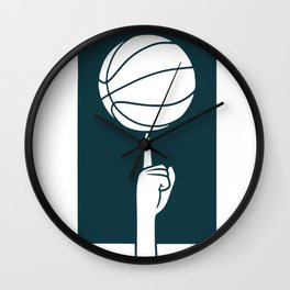 Basketball spinning on finger Wall Clock