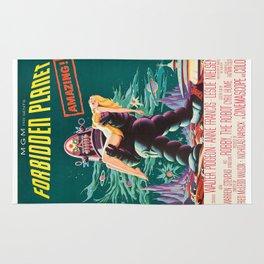 Forbidden Planet, vintage sci-fi movie poster Rug