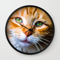 sam smith Wall Clocks featuring Sam by thliii