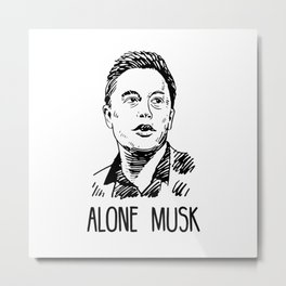 Alone Musk Metal Print
