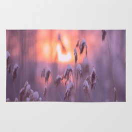 Snowy Reeds Sunset Purple Tone #decor #society6 #homedecor #buyart Rug