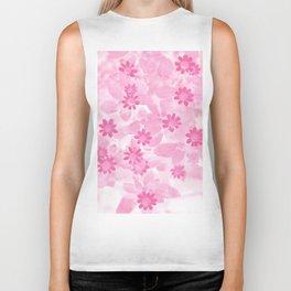 Pink flowers Biker Tank