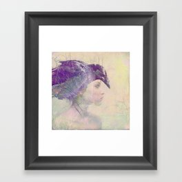 The witch crow Framed Art Print