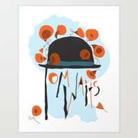 tom waits Art Prints featuring Tom Waits by Laura Shaffer