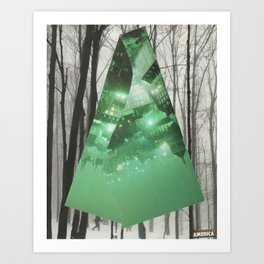 Emerald in the Trees Art Print