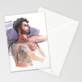 MARK, Semi-Nude Male by Frank-Joseph Stationery Cards