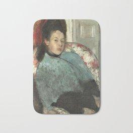 Portrait of Elena Carafa by Edgar Degas Bath Mat
