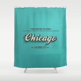 Vintage Chicago Shower Curtain