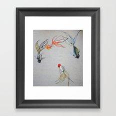 Goldfish Pond (close up #8) Framed Art Print