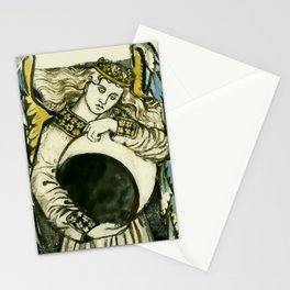 """William Morris """"Night: Angel Holding a Waning Moon"""" Stationery Cards"""
