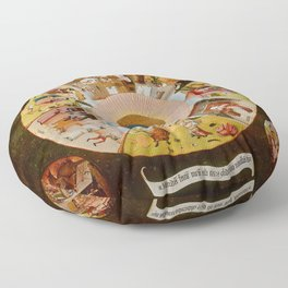 """Hieronymus Bosch """"The Seven Deadly Sins and the Four Last Things"""" Floor Pillow"""