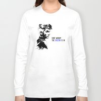 david tennant Long Sleeve T-shirts featuring David Tennant Dr. Who - The Doctor is In by Noal's Corner