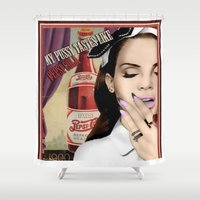 lana Shower Curtains featuring Lana DelRey by CaitlinNicole