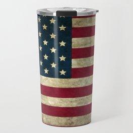 Vintage American flag Travel Mug