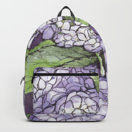 Hydrangea - Watercolor and Ink artwork Backpack