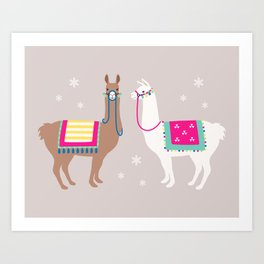 Drama Llama Art Print