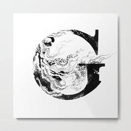 Fancy Marbled G Metal Print