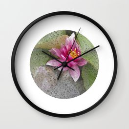 soft water lily IV Wall Clock