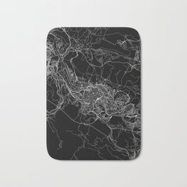 Bilbao Black Map Bath Mat