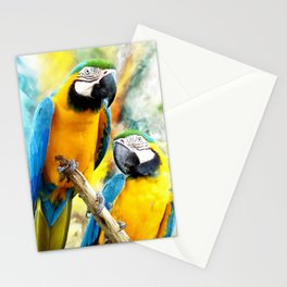 Macaw friends Stationery Cards