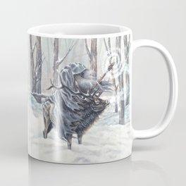 Wizard Riding an Elk in the Snow Coffee Mug