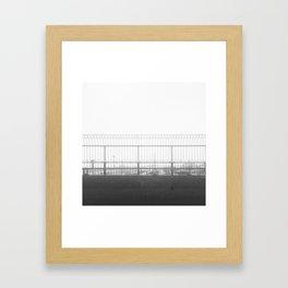 Winter amusement in MTL Framed Art Print