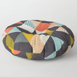 geometry mid century Floor Pillow