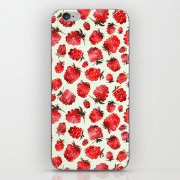 Raspberry vibes iPhone Skin