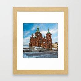 Uspenski Cathedral in winter Framed Art Print