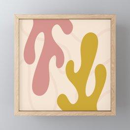 Mid Century Mustard & Pink Framed Mini Art Print