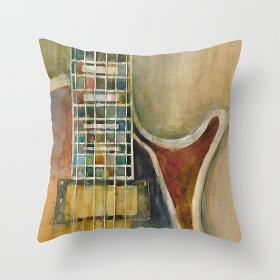 Gibson Electric Guitar Throw Pillow