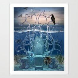 Neptuns Thron Art Print