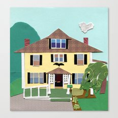The house on Hillside Ave Canvas Print