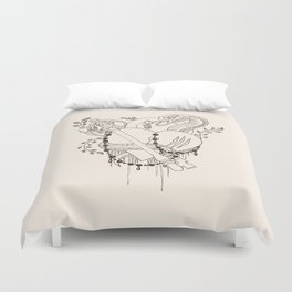 Find the key to my heart (chocolate) Duvet Cover