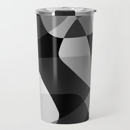 Mid Century Modern Abstract Rock Layers Charcoal Travel Mug